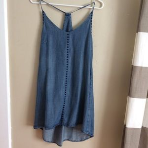 Velvet Heart Aloha Chambray Slip Dress, XS